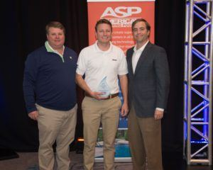 Panama City franchise owner Nick Carver (middle) and Ryan Eiland (left), pictured with ASP's President and COO, Tom Swift (right)