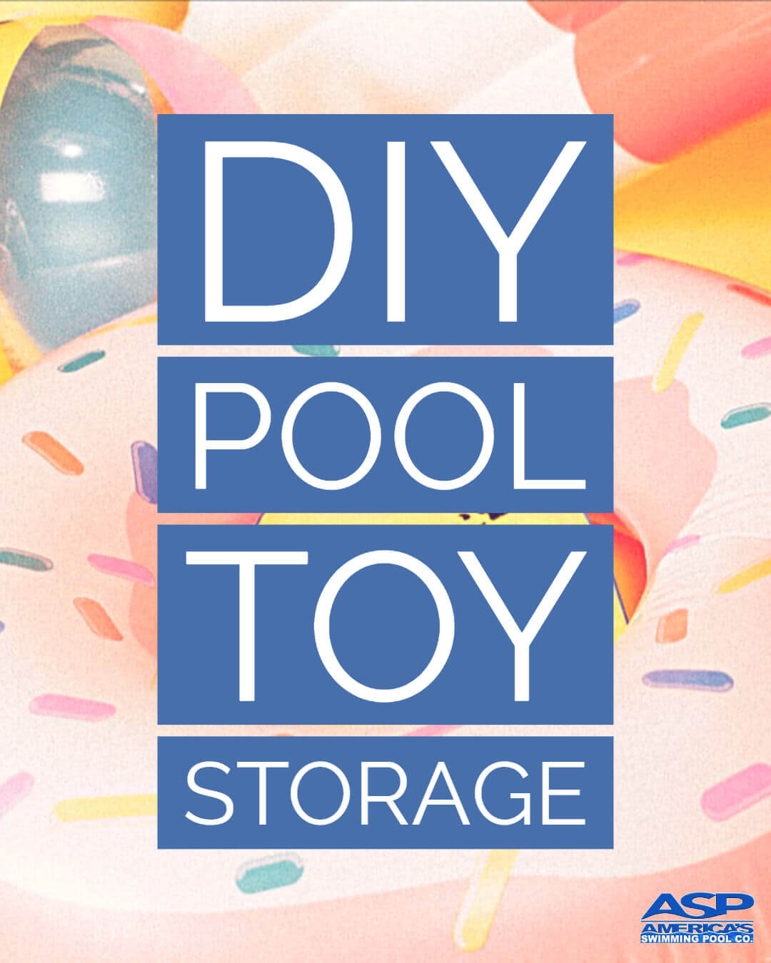 DIY pool toy storage design by ASP