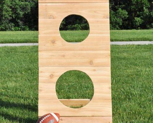 An image of a DIY football toss
